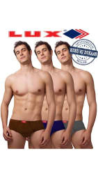 Lux Double Force Assorted Color Cotton Briefs Set Of 3