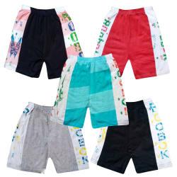Jisha Fashion daily wear hosiery cotton shorts ( ractive look.Combo of 5)