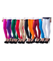 Cartel Viscose Girls Leggings - Pack of 10