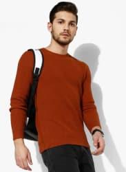 Rust Textured Sweater