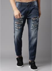 Blue Washed Regular Fit Jeans