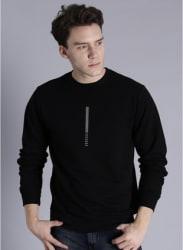Black Printed Sweatshirt