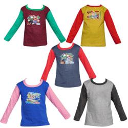 Jisha Fashion Assorted Color Cotton Full Sleeves Tshirt ( Set Of 5)