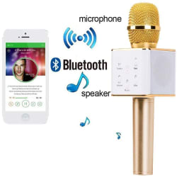 Portable Wireless karaoke Mic With Inbuilt Wireless Microphone & HIFI Speaker - Q7