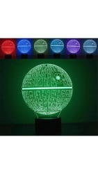 Creative 3D Star Wars Death Star Night Table Lamp (1 PC)