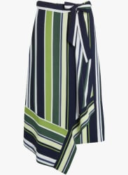 Multicoloured Striped Pencil Skirt