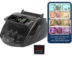 Stok ST-MC05-1 Currency Counting Machine and Counterfeit Note Detector (Black)