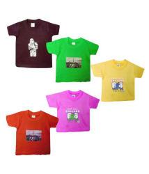 Jisha Boys Tshirt Assorted Color Cotton TCC( Pack of 5)