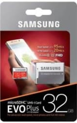 NEW Samsung 2017 Evo Plus 32 GB MicroSD Card Class 10 95 MB/s Memory(With AD)