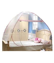 ASP Healthcare Single Pink Plain Mosquito Net