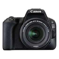 Canon EOS 200D DSLR Camera (EF-S18-55 IS STM & EF-S55-250 IS STM) (Black)