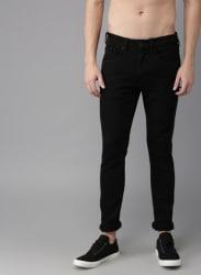 Black Mid Rise Skinny Fit Jeans
