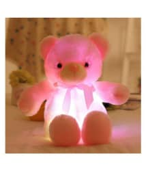 LED Teddy Bear - 20 cm, Says \