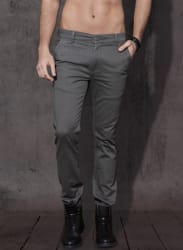 Charcoal Grey Solid Chinos