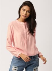 Pink Self Pattern Blouse