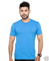Plain Round Neck T-Shirt Royal Blue Color - 100% Cotton