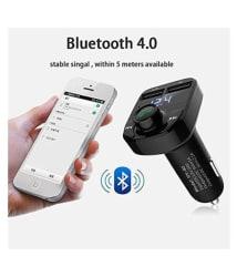 JXL Car Mobile Charger Transmitter & Music Adapter X8, Dual Port-2.0 Amp - Black