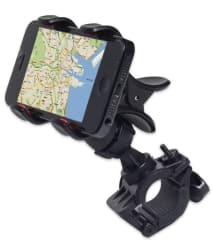 Bike Bicycle Motorcycle Mobile Cell Phone Holder Mount Bracket For All Phones - Black
