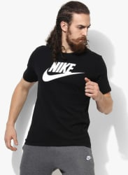 As Nsw Icon Futura Black Graphic Round Neck T-Shirt