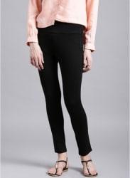 Black Four-Way Stretch Trousers