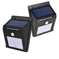 Solar Power PIR Motion Sensor Wall Night Lights Outdoor Waterproof Lamps (1 Pcs)