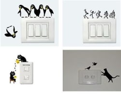 Asmi Collections Wall Stickers for Light Switches - Set of 4 - AO048