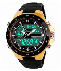 VB ENTERPRISE MULTIFUNCTION GOLD ANALOG-DIGITAL SPORT WATCH
