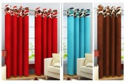 Homefab India Stylish Leaf Curtains for Window/Door eyelets Curtains, 4 Design