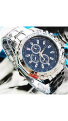 Fashion Men Stainless Steel Quartz Analog Sport Wrist Watch Father s Day Gift