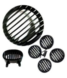 MP Black Plastic Light Grill For Bajaj Avenger-150cc/220cc Set - 6 Pieces