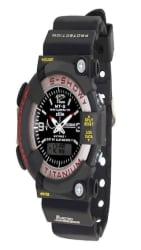 Mtg Black Analog-Digital Sports Watch