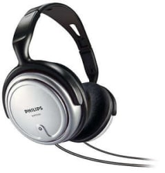 PHILIPS SHP2500 HEADPHONES+6M CABLE+VOLUME CONTROL+GOOD FOR TV