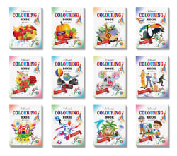 Colouring Books Set of 12 By Inikao