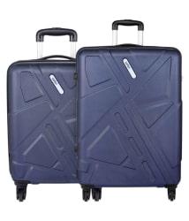 Safari Traffik Anti Scratch Combo Set of 2 Purple Small, Medium Hard Branded Luggage Trolley Bag(International Luggage)