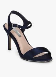 Selina Navy Blue Ankle Strap Stilettos