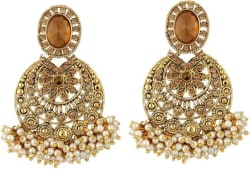 Jewels Guru Diva Style Zircon Alloy Chandbali Earring