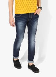 Blue Washed Low Rise Skinny Fit Jeans