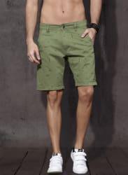 Olive Printed Shorts