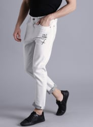 Grey Mid Rise Regular Fit Jeans