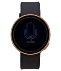 Pappi Boss Black Silicone Golden Metal Digital Touch Screen Watch For Boys