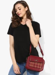 Black Solid T Shirt