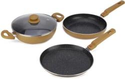 Prestige Omega Festival Pack - Build Your Kitchen Set Induction Bottom Cookware Set(Aluminium, 3 - Piece)