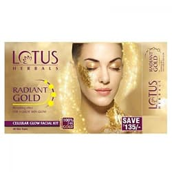Lotus Herbal Radiant Gold Cellular Glow Facial Kit, 37g