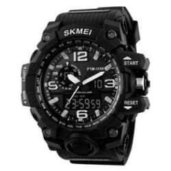 Skmei 1155 Analog and Digital Sports Dual Time Watch - For Men and Boys