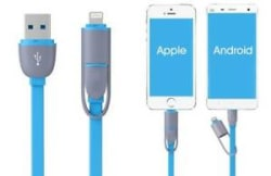 Details about 2 in 1 Multi USB Phone Data Cable, Flexible Storage Mobile Fast Charging Cable