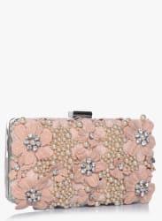Blush Floral Box Clutch