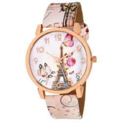 Paris Pink Eiffel tower style women Watch- For Women
