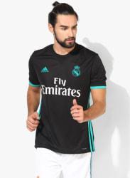 Real Madrid A Black Football Sports Jersey