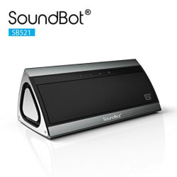 SoundBot SB521 Bluetooth Speakers (Stainless Steel Brushed Metallic)