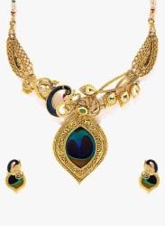 Golden 100%Zinc Necklace Set